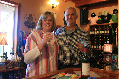 Winetasting in Homer, Alaska. There are no vineyards in Alaska. Most of the wines were made with berries, or a combination of berries and grape juice they buy from elsewhere to make into wine.