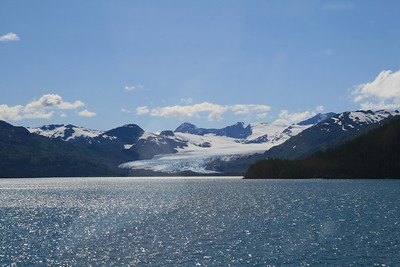 A glacier from the ferry.