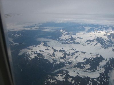 Glacier from the airplane window.